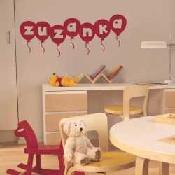 Balónky s písmenky - dětské samolepky na zeď