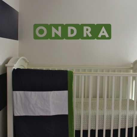 Kostky s písmenky - dětské samolepky na zeď