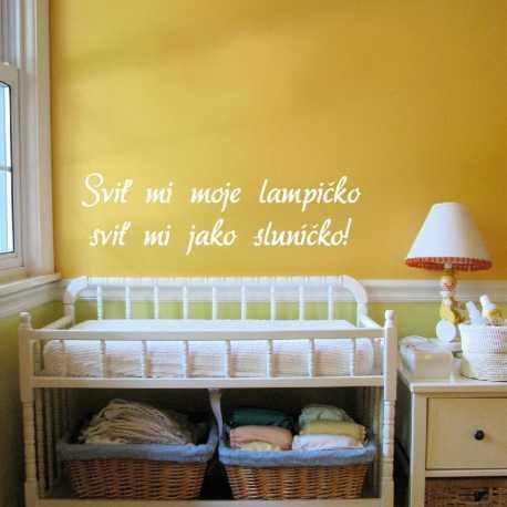 Písmo Dora - dětské samolepky na zeď