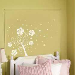 Samolepky na zeď pro děti - Květinový keřík