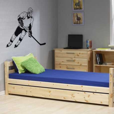 Dětská nálepka Hokejista nalepeno na stěně