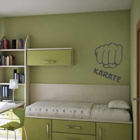 Samolepka na stěnu-Pěst karate