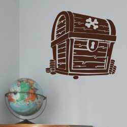 Samolepící dekorace Pirátská truhla