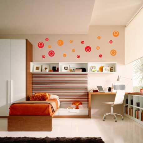 Samolepící dekorace Kruhy prázdné