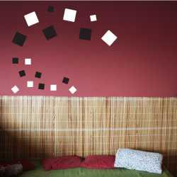 Samolepící dekorace Čtverce plné