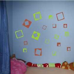 Samolepící dekorace Čtverce prázdné