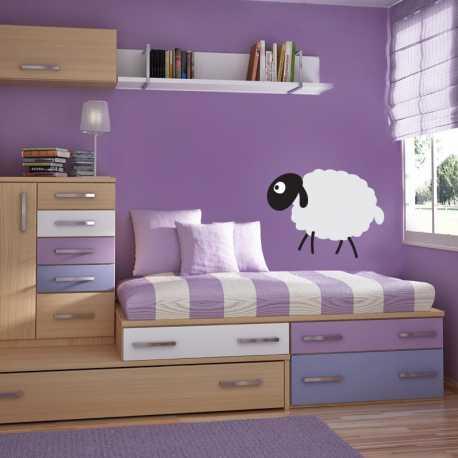 Samolepící dekorace Ovečka z boku