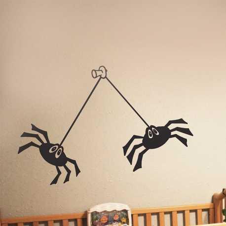 Samolepící dekorace Pavoučci na připínáčku