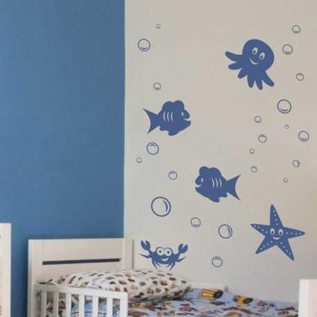 Samolepící dekorace Mořský set