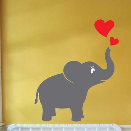 Samolepící dekorace Slon a srdce